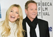 Kate Hudson and Keifer Sutherland attend the screening of 'The Reluctant Fundamentalist' during the 2013 Tribeca Film Festival at BMCC Tribeca PAC on...