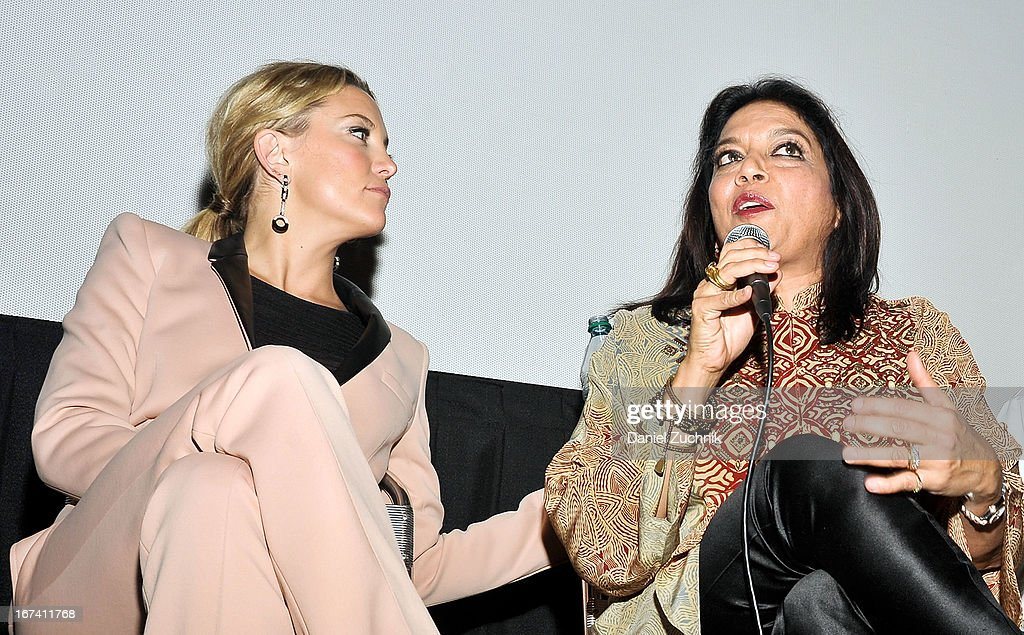 Kate Hudson and Mira Nair attend the Q&A following 'The Reluctant Fundamentalist' screening during the 2013 New York Indian Film Festival at Big Cinemas Manhattan on April 24, 2013 in New York City.
