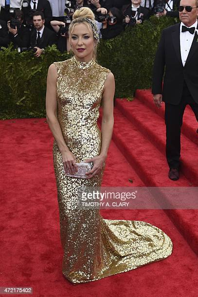 Kate Hudson arrives at the Costume Institute Gala Benefit at The Metropolitan Museum of Art May 5 2015 in New York AFP PHOTO / TIMOTHY A CLARY