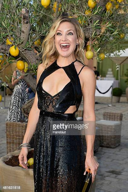 Kate Hudson attends a cocktail reception during The Leonardo DiCaprio Foundation 2nd Annual SaintTropez Gala at Domaine Bertaud Belieu on July 22...