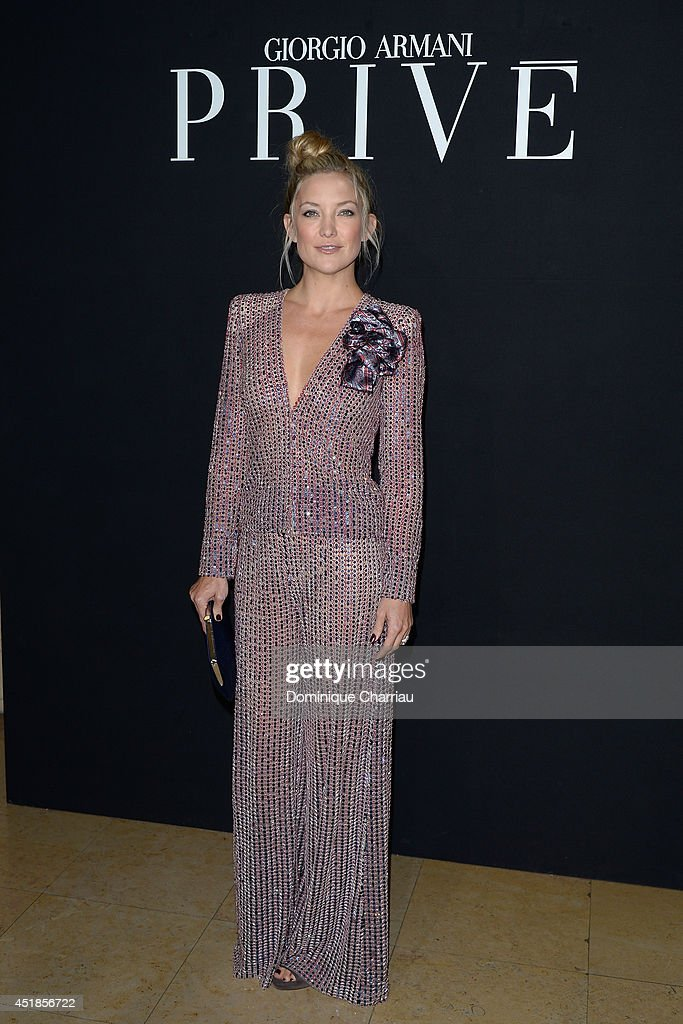 <a gi-track='captionPersonalityLinkClicked' href=/galleries/search?phrase=Kate+Hudson&family=editorial&specificpeople=156407 ng-click='$event.stopPropagation()'>Kate Hudson</a> attends at the Giorgio Armani Prive show as part of Paris Fashion Week - Haute Couture Fall/Winter 2014-2015 at Theatre National de Chaillot on July 8, 2014 in Paris, France.