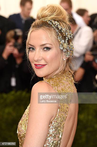 Kate Hudson attends the 'China Through The Looking Glass' Costume Institute Benefit Gala at the Metropolitan Museum of Art on May 4 2015 in New York...