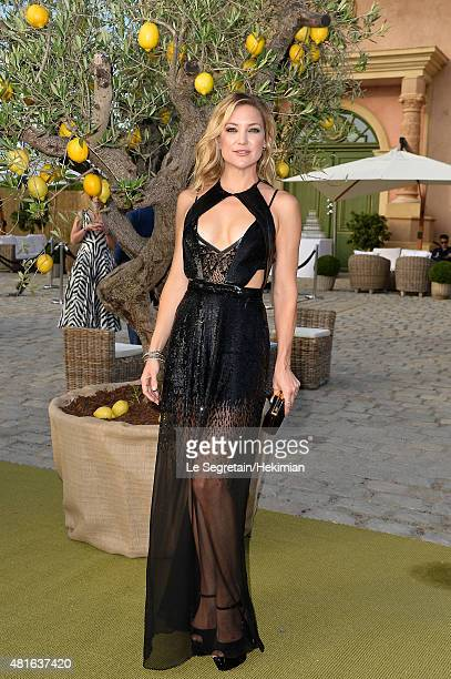 Kate Hudson attends the Cocktail reception during The Leonardo DiCaprio Foundation 2nd Annual SaintTropez Gala at Domaine Bertaud Belieu on July 22...
