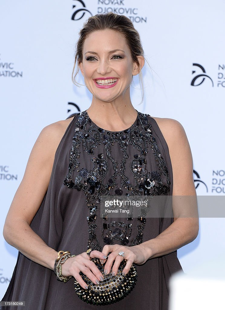 <a gi-track='captionPersonalityLinkClicked' href=/galleries/search?phrase=Kate+Hudson&family=editorial&specificpeople=156407 ng-click='$event.stopPropagation()'>Kate Hudson</a> attends the Novak Djokovic Foundation London gala dinner at The Roundhouse on July 8, 2013 in London, England.
