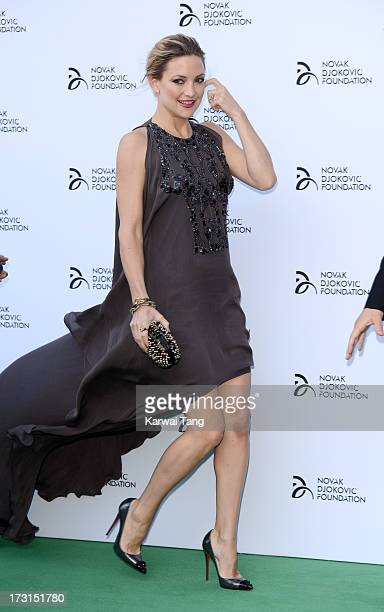 Kate Hudson attends the Novak Djokovic Foundation London gala dinner at The Roundhouse on July 8 2013 in London England