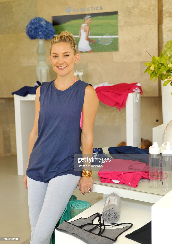 Kate Hudson celebrates the Fabletics Spring Collection on May 1, 2014 in Los Angeles, California.