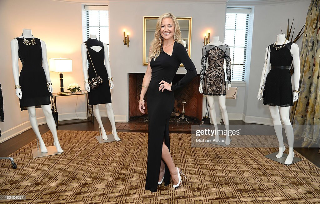 <a gi-track='captionPersonalityLinkClicked' href=/galleries/search?phrase=Kate+Hudson&family=editorial&specificpeople=156407 ng-click='$event.stopPropagation()'>Kate Hudson</a> celebrates the Little Black Dress Collection for Ann Taylor at Chateau Marmont on April 8, 2014 in Los Angeles, California.
