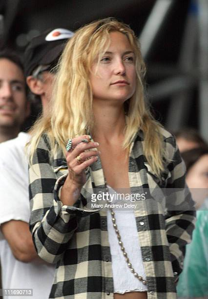 Kate Hudson during Bonnaroo 2005 Day 2 Seen Around Tent at Centeroo in Manchester Tennessee United States