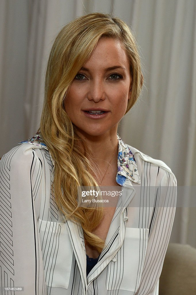 Kate Hudson during the Kate Hudson Almay Intense i-Color Bold Nudes And Smart Shade Mousse Makeup Launch at The NoMad Hotel on December 3, 2012 in New York City.