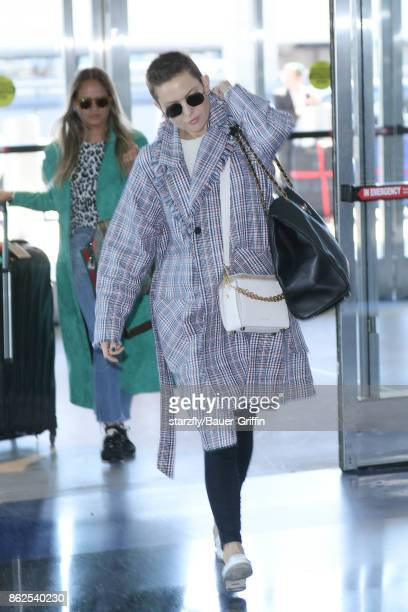 Kate Hudson is seen at JFK on October 17 2017 in New York City
