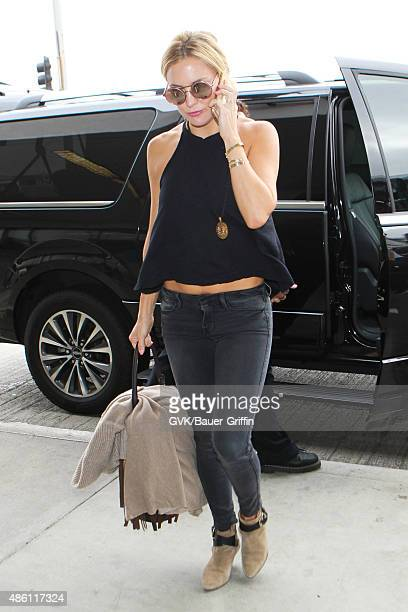 Kate Hudson is seen at LAX on August 31 2015 in Los Angeles California
