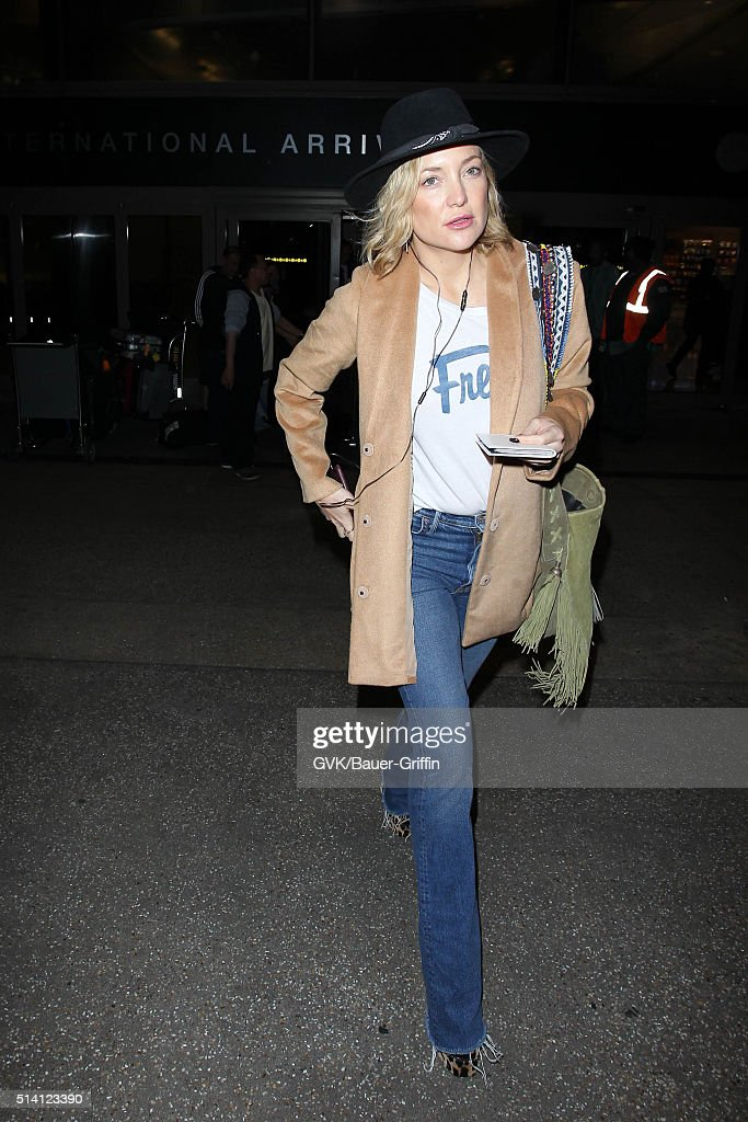 Kate Hudson is seen at LAX on March 06 2016 in Los Angeles California