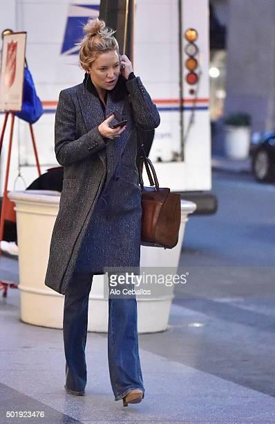 Kate Hudson is seen in Midtown on December 18 2015 in New York City