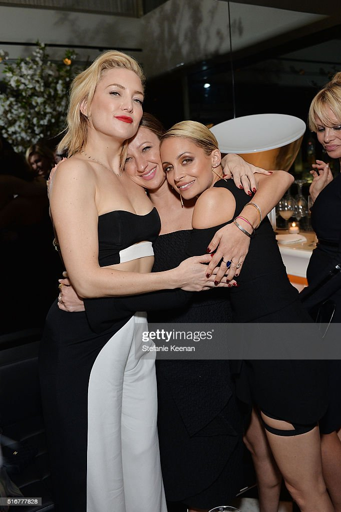 Kate Hudson, Jennifer Meyer and Nicole Richie attend The Daily Front Row Fashion Los Angeles Awards Private Dinner Hosted By Eva Chow And Carine Roitfeld at Mr Chow on March 20, 2016 in Beverly Hills, California.