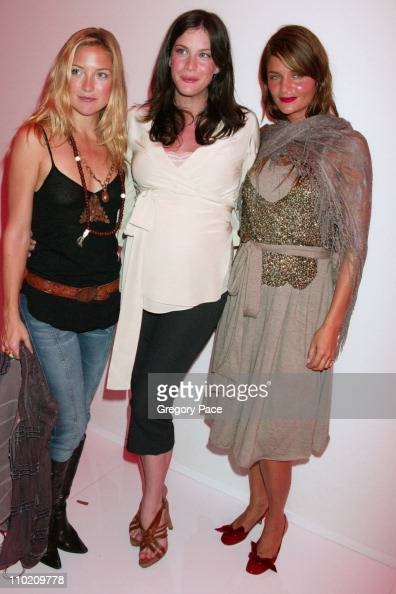 Kate Hudson Liv Tyler and Helena Christensen during Olympus Fashion Week Spring 2005 Marc Jacobs After Party at Pier 54 in New York City New York...