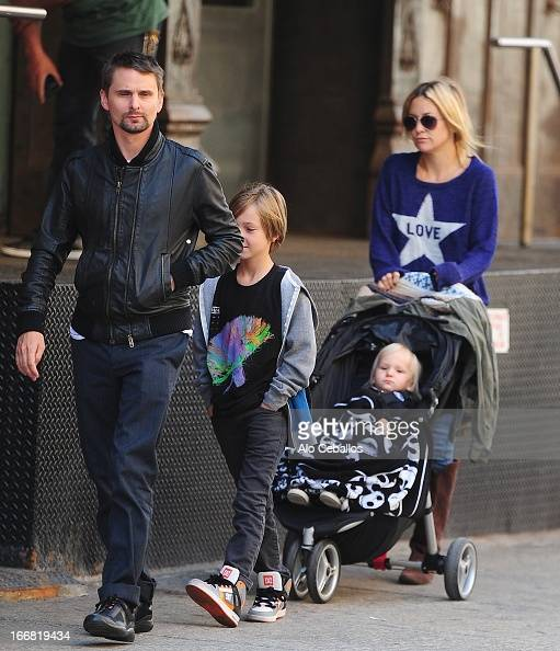Kate Hudson Matthew Bellamy Bingham Hawn Bellamy and Ryder Robinson are seen in Tribeca on April 17 2013 in New York City