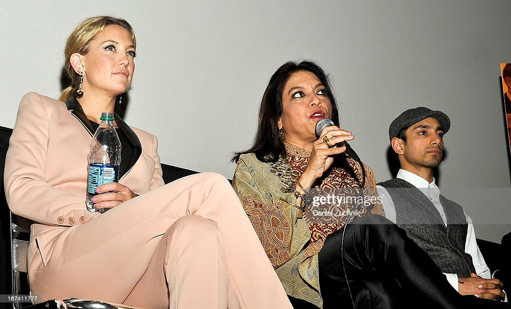 Kate Hudson, Mira Nair and Riz Ahmed attend the Q&A following 'The Reluctant Fundamentalist' screening during the 2013 New York Indian Film Festival at Big Cinemas Manhattan on April 24, 2013 in New York City.