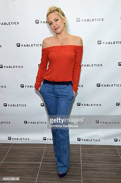 Kate Hudson opens a new Fabletics Boutique at Bridgewater Commons Mall on October 16 2015 in Bridgewater New Jersey
