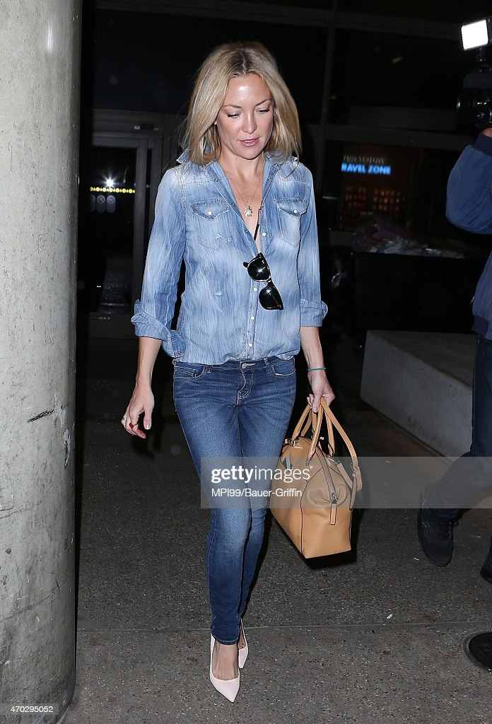 Kate Hudson seen at LAX airport on April 18 2015 in Los Angeles California