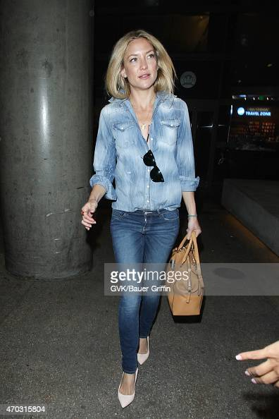 Kate Hudson seen at LAX on April 18 2015 in Los Angeles California