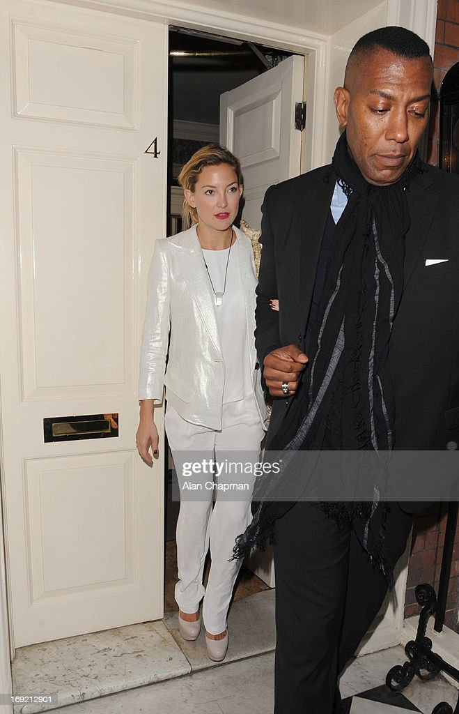 <a gi-track='captionPersonalityLinkClicked' href=/galleries/search?phrase=Kate+Hudson&family=editorial&specificpeople=156407 ng-click='$event.stopPropagation()'>Kate Hudson</a> sighting leaving the Goop Party at Mark's Club Mayfair on May 21, 2013 in London, England.