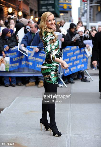 Kate Hudson visits the ''Late Show with David Letterman'' at the Ed Sullivan Theater on January 5 2009 in New York City