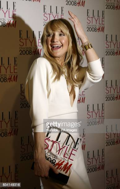 Kate Hudson with the award for ELLE Style Icon at the ELLE Style Awards 2008 The Westway off Latimer Road W10