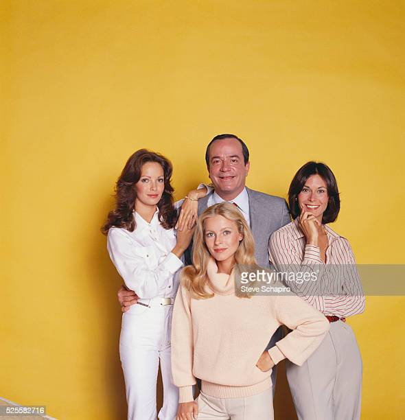 Kate Jackson Cheryl Ladd David Doyle and Jaclyn Smith in character for the TV series Charlie's Angels