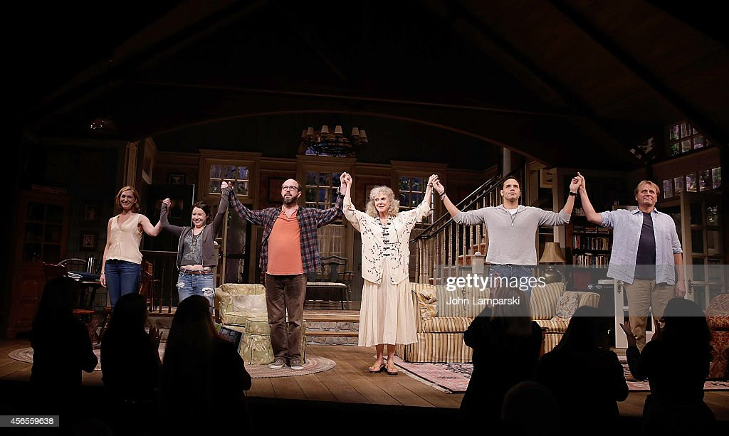 Kate Jennings Grant Sarah Steele Eric Lange Blythe Danner Daniel Sunjata and David Rasche perform during the 'The Country House' Opening Night...
