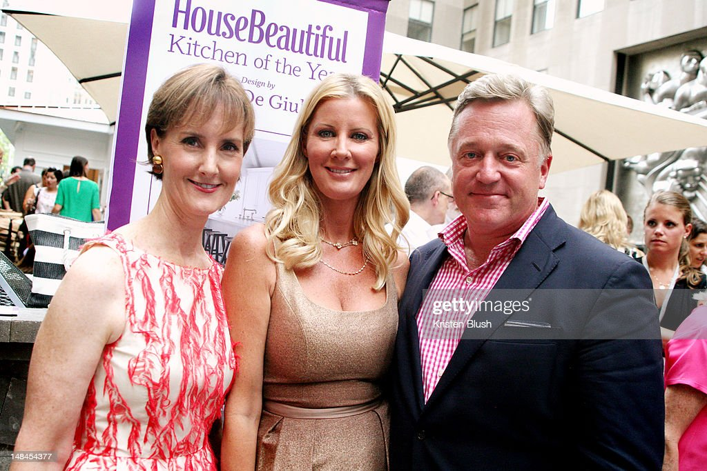 Kate Kelly Smith Sandra Lee And Newell Turner Attends The House Beautiful Magazine S Kitchen