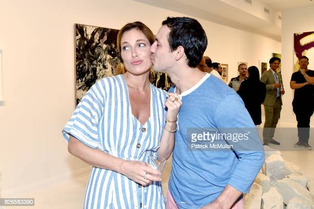 Kate Krone and Gary Simonette attend Montauk Highway Postwar Abstraction in the Hamptons at Eric Firestone Gallery on August 4 2017 in East Hampton...