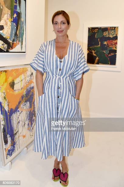 Kate Krone attends Montauk Highway Postwar Abstraction in the Hamptons at Eric Firestone Gallery on August 4 2017 in East Hampton New York