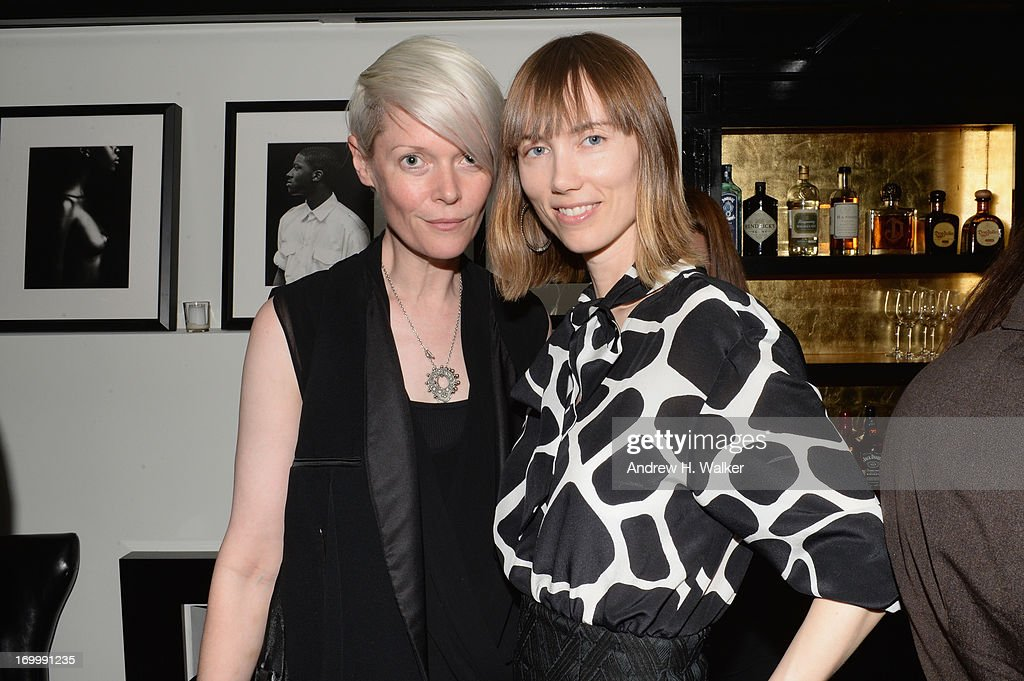 <a gi-track='captionPersonalityLinkClicked' href=/galleries/search?phrase=Kate+Lanphear&family=editorial&specificpeople=3065374 ng-click='$event.stopPropagation()'>Kate Lanphear</a> and Anya Ziourova attend the Casadei dinner at Omar's, hosted by Julia Restoin Roitfeld and Cesare Casadei celebrating Resort 2014 at on June 5, 2013 in New York City