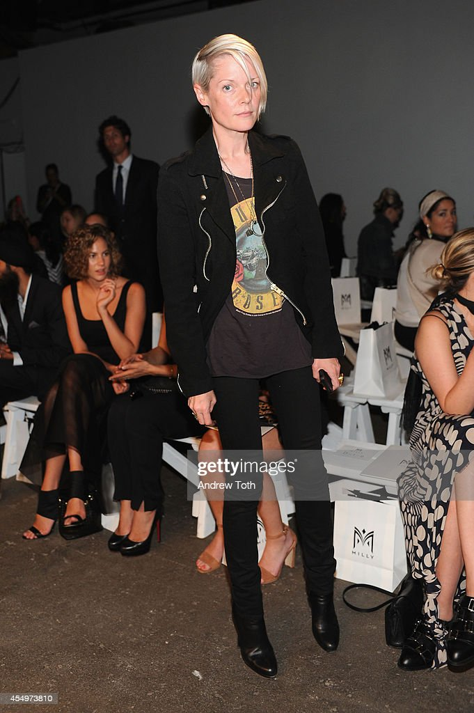 Kate Lanphear attends Milly By Michelle Smith during MercedesBenz Fashion Week Spring 2015 at Art Beam on September 8 2014 in New York City