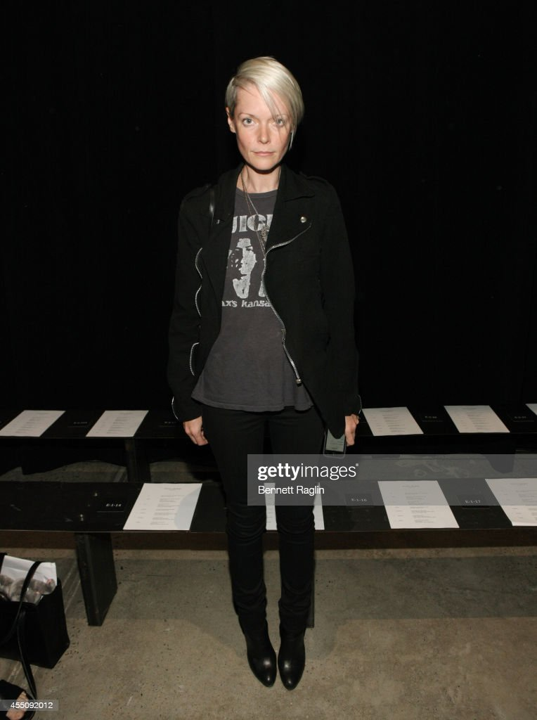 Kate Lanphear attends Narciso Rodriguez during MercedesBenz Fashion Week Spring 2015 at SIR Stage 37 on September 9 2014 in New York City