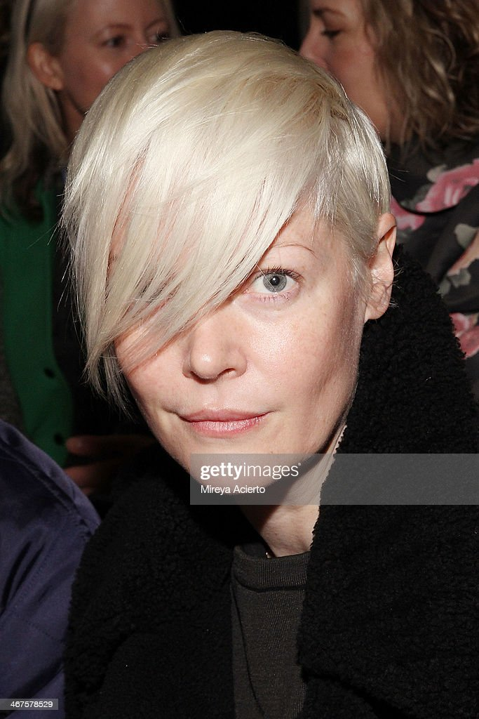 Kate Lanphear attends Peter Som MADE Fashion Week Fall 2014 Milk Studios on February 7 2014 in New York City