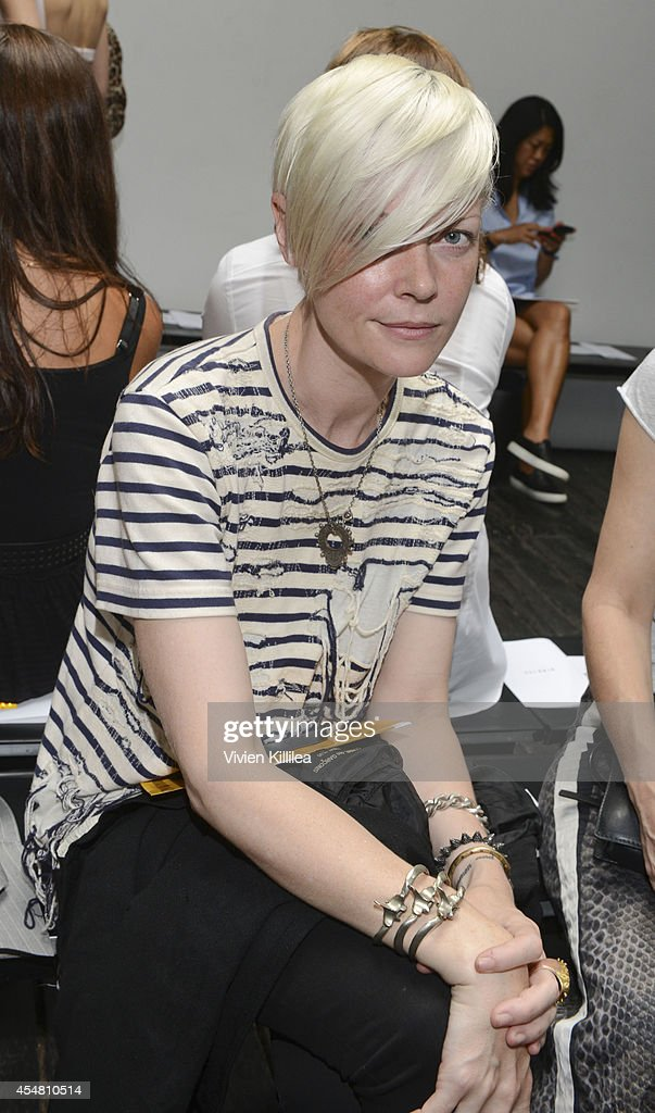 Kate Lanphear attends the Dion Lee fashion show during MercedesBenz Fashion Week Spring 2015 at Hosfelt Gallery on September 6 2014 in New York City