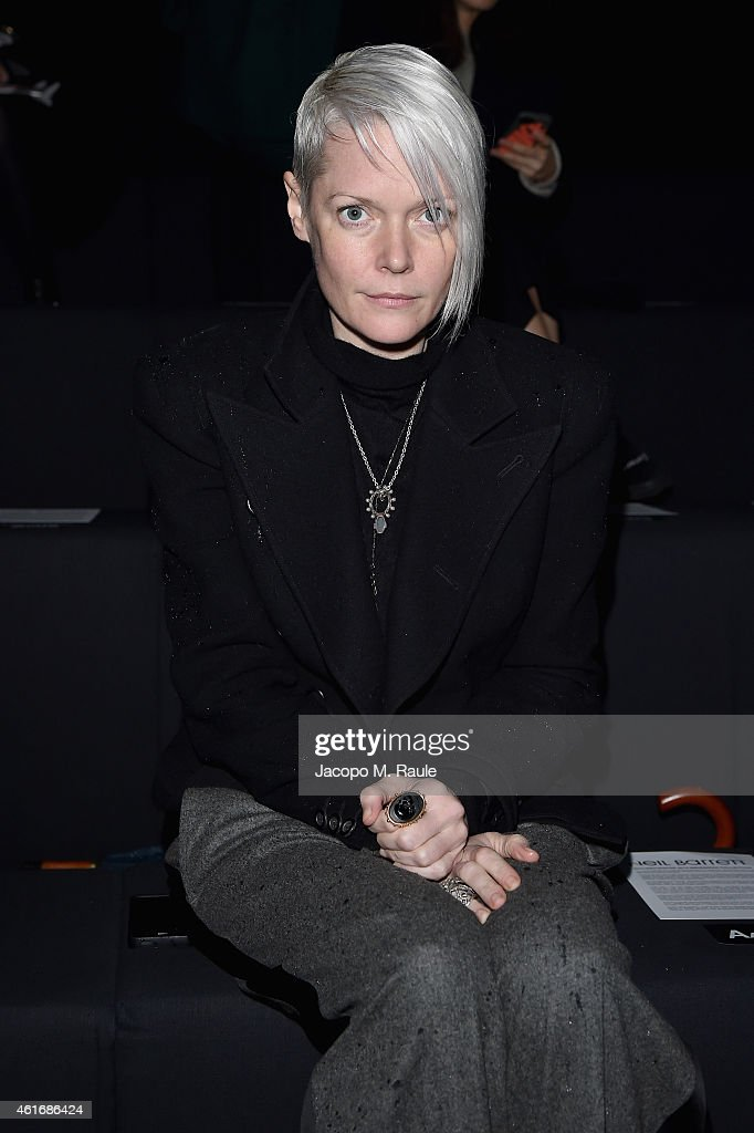 Kate Lanphear attends the Neil Barret Show during the Milan Menswear Fashion Week Fall Winter 2015/2016 on January 17 2015 in Milan Italy