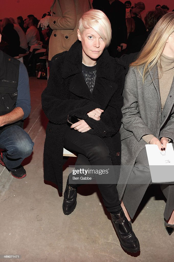<a gi-track='captionPersonalityLinkClicked' href=/galleries/search?phrase=Kate+Lanphear&family=editorial&specificpeople=3065374 ng-click='$event.stopPropagation()'>Kate Lanphear</a> attends the Proenza Schouler fashion show during Mercedes-Benz Fashion Week Fall 2014 on February 12, 2014 in New York City.
