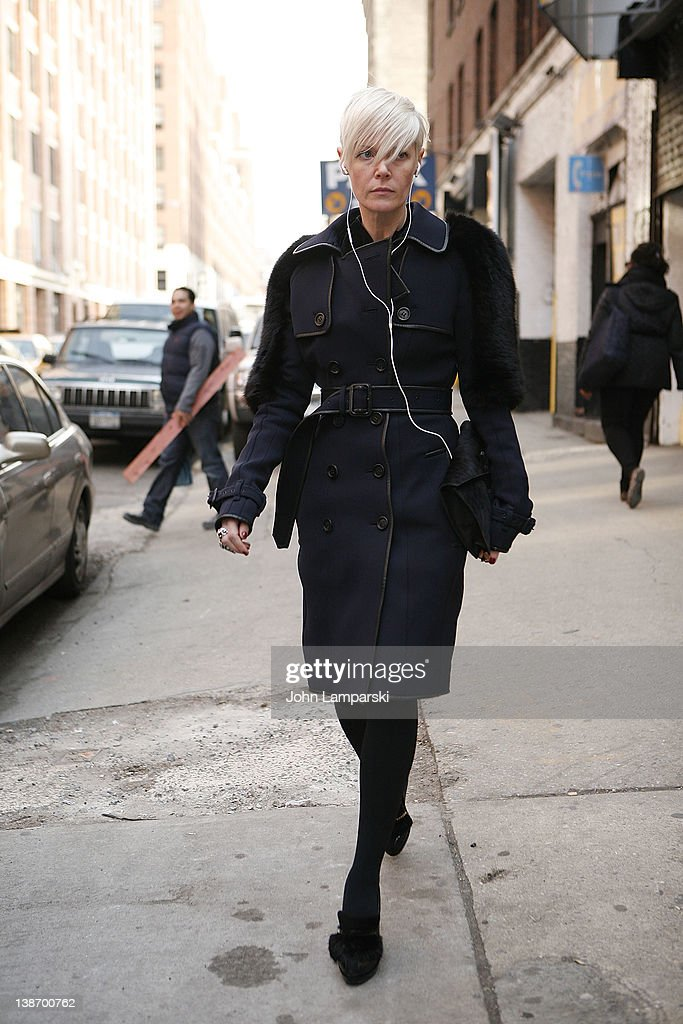 Kate Lanphear is seen on the streets of Manhattan on February 10 2012 in New York City