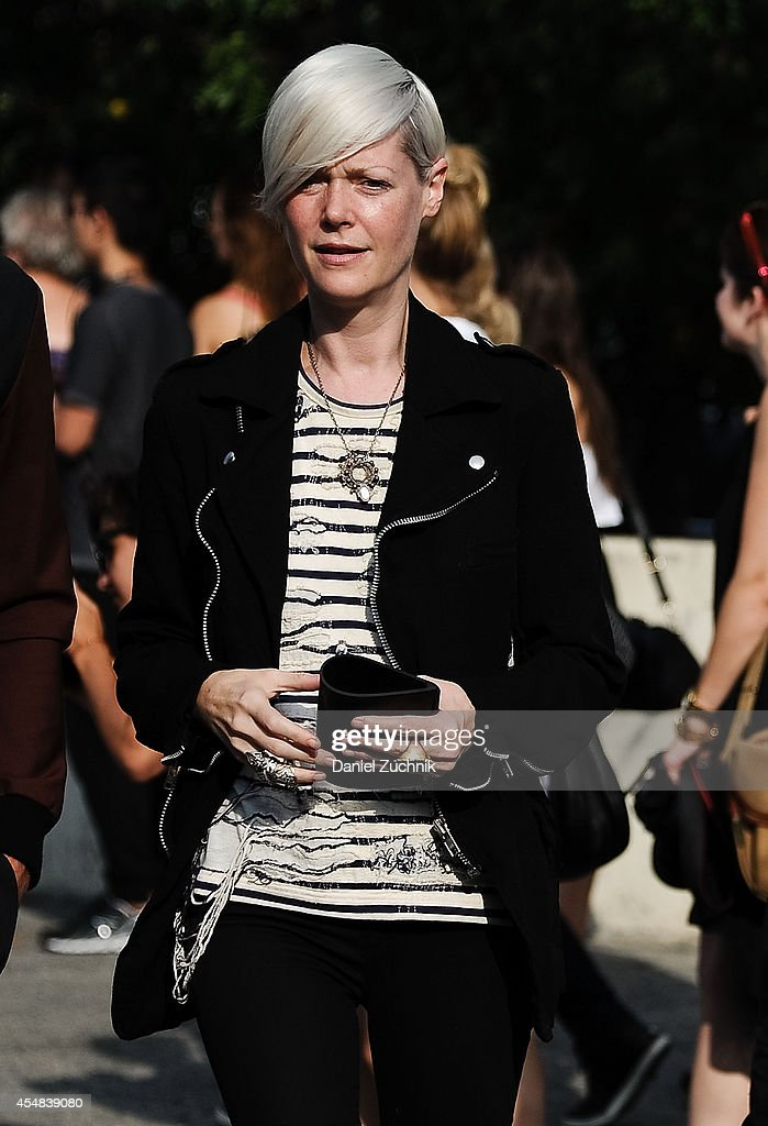 Kate Lanphear is seen outside the Alexander Wang show on September 6 2014 in New York City