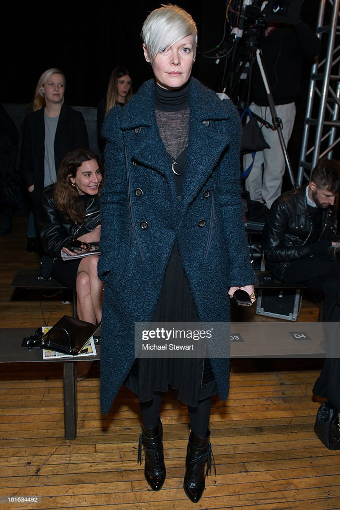 The New York Times Style Magazine attends Philosophy By Natalie Ratabesi during fall 2013 Mercedes-Benz Fashion Week on February 13, 2013 in New York City.