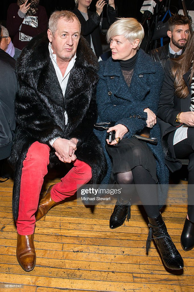 The New York Times Style Magazine (R) attends Philosophy By Natalie Ratabesi during fall 2013 Mercedes-Benz Fashion Week on February 13, 2013 in New York City.
