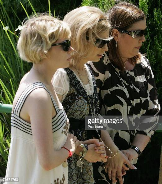 Kate Ledger and Michelle Williams attend the memorial service for Heath Ledger at Penrhos College on February 9 2008 in Perth Australia The late...
