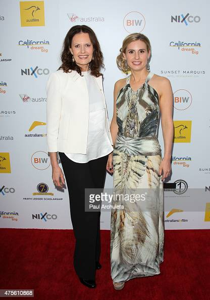 Kate Ledger and Sally Bell attend the 'Australians In Film' Heath Ledger scholarship announcement dinner at Sunset Marquis Hotel Villas on June 1...