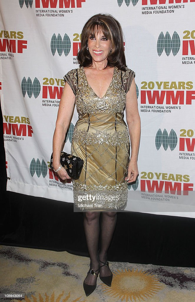 <a gi-track='captionPersonalityLinkClicked' href=/galleries/search?phrase=Kate+Linder&family=editorial&specificpeople=213145 ng-click='$event.stopPropagation()'>Kate Linder</a> arrives at The International Women's Media Foundation's 'Courage In Journalism' awards held at Beverly Hills Hotel on October 21, 2010 in Beverly Hills, California.