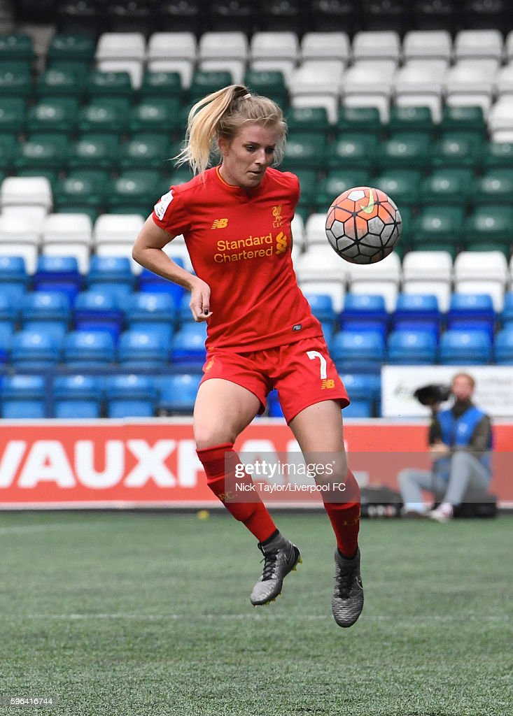 Kate Longhurst of Liverpool Ladies in action during the Liverpool Ladies v Doncaster Rovers Belles WSL 1 match on August 27 2016 in Widnes England