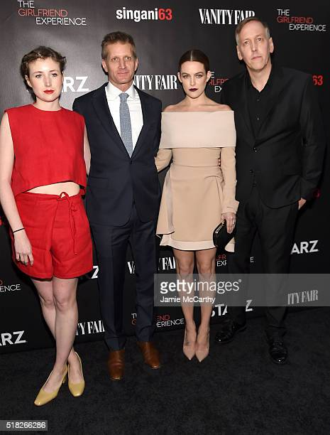 Kate Lyn Sheil Paul Sparks Riley Keough and Lodge Kerrigan attend the New York premiere of 'The Girlfriend Experience' at The Paris Theatre on March...