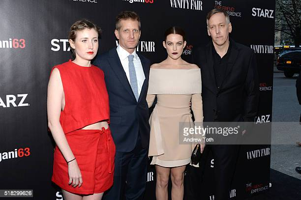 Kate Lyn Sheil Paul Sparks Riley Keough and Lodge Kerrigan attend 'The Girlfriend Experience' New York premiere at The Paris Theatre on March 30 2016...