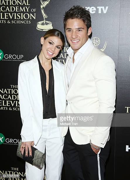 Kate Mansi and Casey Moss arrive at the 41st Annual Daytime Emmy Awards held at The Beverly Hilton Hotel on June 22 2014 in Beverly Hills California